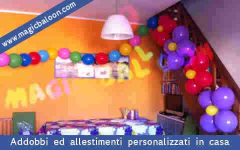 Palloncini festa 18 anni palloncino addobbi allestimenti - Addobbi laurea per casa ...